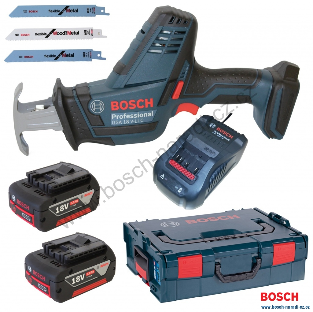 37a2e470bd2 Bosch GSA 18 V-Li C Professional (2 x 5,0Ah aku) Aku pila ocaska ...