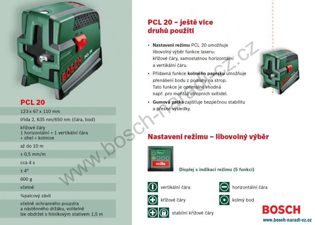 K ov laser bosch pcl 20 set stativ bosch n ad cz for Laser bosch pcl 20